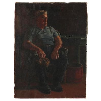 "Edmond J. Fitzgerald Oil Portrait ""The Yorkshire Man"""