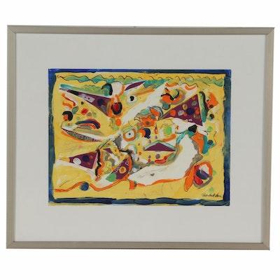 Chuck Barr Abstract Mixed Media Painting