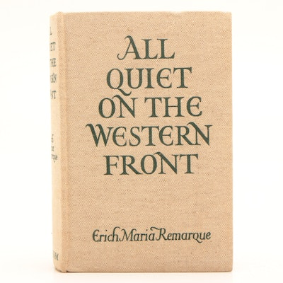 """1929 """"All Quiet on the Western Front"""" Early UK Edition by Erich Maria Remarque"""