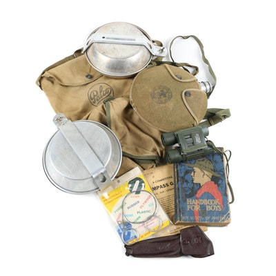 Boy Scout Handbook, Mess Kits, Canteen, and More, Vintage