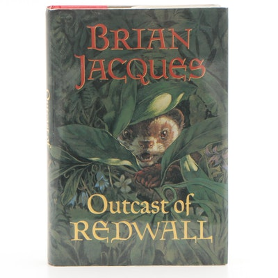 """Signed First American Edition """"Outcast of Redwall"""" by Brian Jacques"""