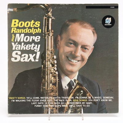 "Signed Boots Randolph Album ""More Yakety Sax!"""