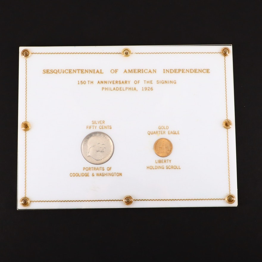 1926 Sesquicentennial Commemorative $2 1/2 Gold and Silver Half Dollars