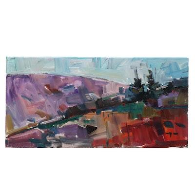 "Jose Trujillo Oil Painting ""Pine Morning"""