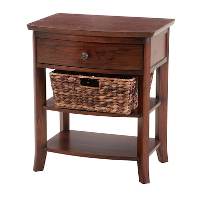 "Pottery Barn ""Chloe"" Nightstand with Storage Basket"