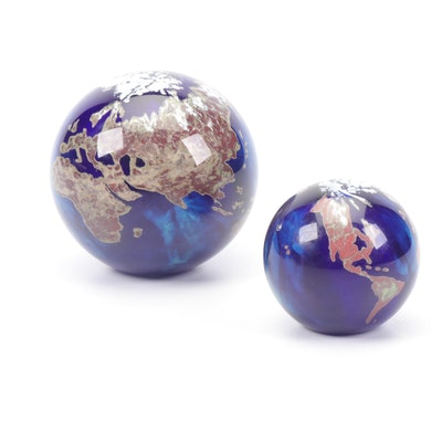 Lundberg Studios Glass Globe Paperweights