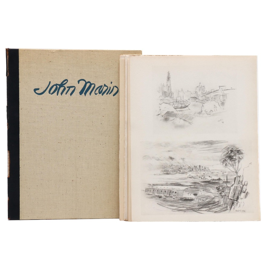 "John Marin Limited Edition Portfolio ""John Marin: Drawings and Watercolors"""