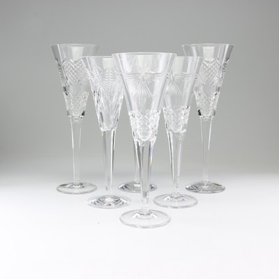 """Waterford Crystal """"Millennium Collection"""" Champagne Flutes"""