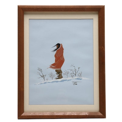 Jerome Richard Tiger Native American Serigraph