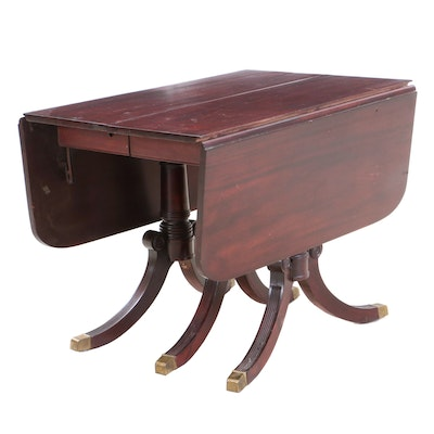 Duncan Phyfe Federal Style Wood Drop Leaf Table