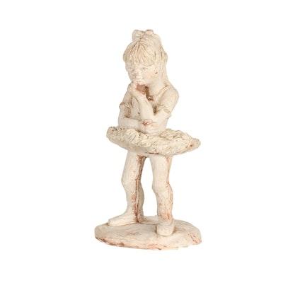 Joan Amorati (Cincinnati, 1934-2013) Plaster Sculpture of Ballerina, 1975