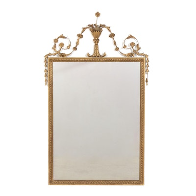 Italian Gilt Wood and Molded Plaster Mirror