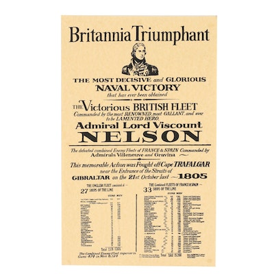 "Late 20th Century Serigraph Poster after ""Britannia Triumphant"""