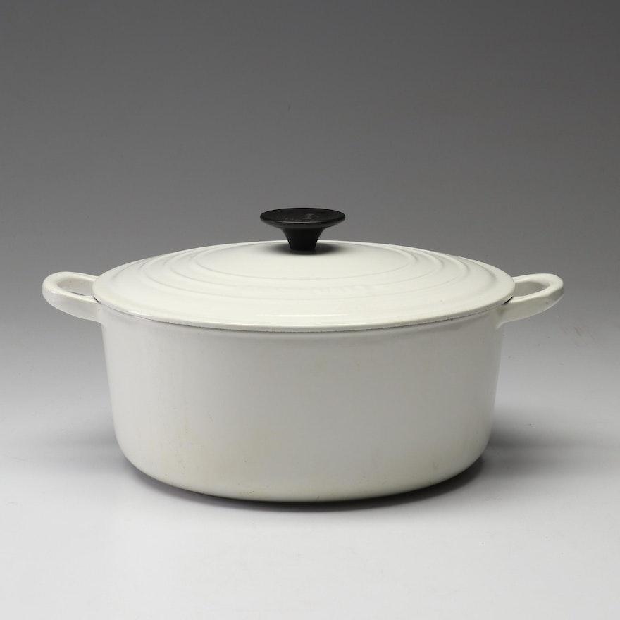 Le Creuset Cast-Iron White Dutch Oven