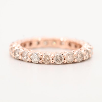 14K Rose Gold 2.08 CTW Diamond Eternity Band
