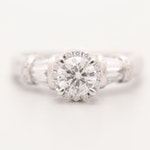 14K White Gold 1.03 CTW Diamond Ring