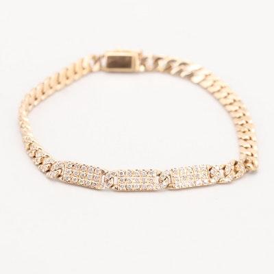 18K Yellow Gold 1.18 CTW Diamond Bracelet