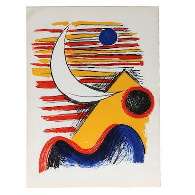 """Alexander Calder, Miro and Francois Fiedler Lithographs for """"Derrière le Miroir"""""""