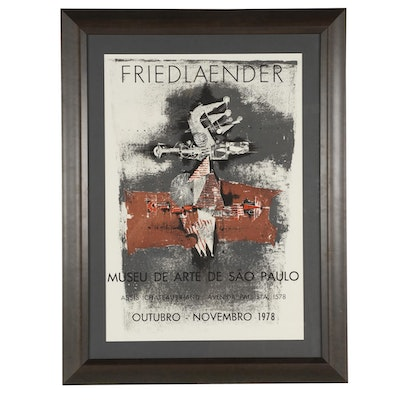 Friedländer 1978 Lithographic Museum Exhibition Poster