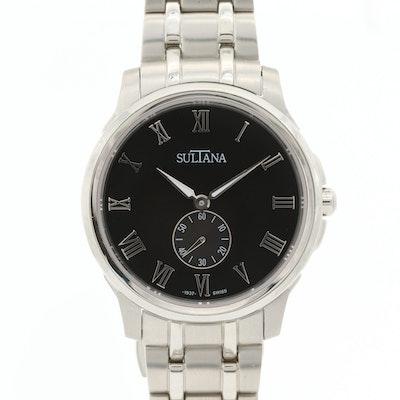Sultana Stainless Steel Swiss Wristwatch