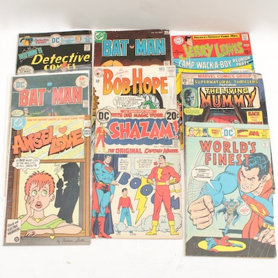 "Bronze Age DC Comics With ""Shazam"" Issue #1"