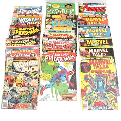 Marvel Bronze Age Comics With Spider-Man and Howard the Duck