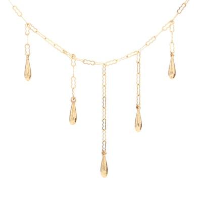 18K Yellow Gold Fringe Necklace