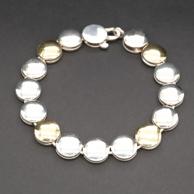 Caviar by Lagos Sterling Silver 18K Yellow Gold Bold Link Bracelet