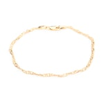 18K Yellow Gold Singapore Chain Link Bracelet