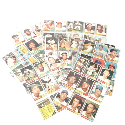 Topps 1961 Baseball Cards with Roger Maris and Nellie Fox