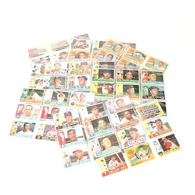 1960 Topps Baseball Cards with Nellie Fox and Bill Mazeroski