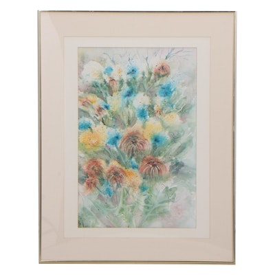 Lea Lewis Floral Watercolor Painting