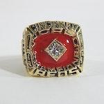 Cincinnati Reds Pete Rose 1975 World Championship Replica Gold-Tone Ring