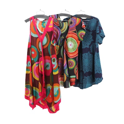 Aller Simplement Cotton Tunic Dress and Tops