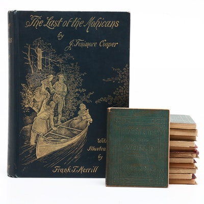 """""""The Last of the Mohicans"""" by Cooper with Little Leather Library Books"""