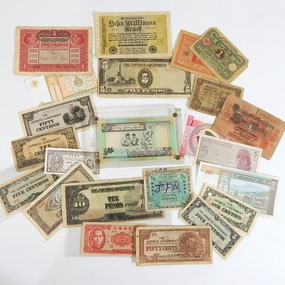 Foreign Currency with Japan, Germany, Kuwait, China, Romania, and More