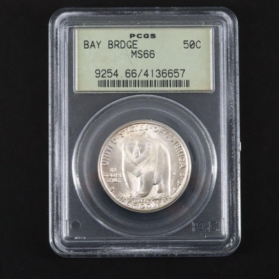 PCGS Graded MS66 1936-S San Francisco-Oakland Bay Bridge Silver Half Dollar