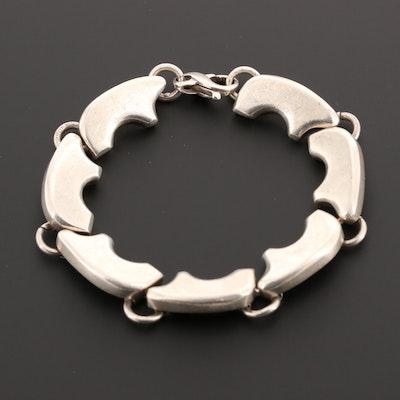 Southwestern Style Sterling Silver Bear Motif Bracelet