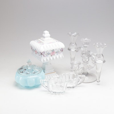 "Glassware Featuring Heisey ""Crystolite"""