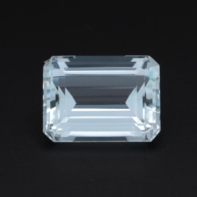 Loose 27.17 CT Aquamarine Gemstone