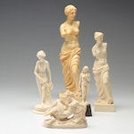 Santini Bonded Resin Figurines Including Venus De Milo Repreoduction & More