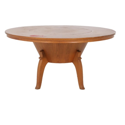 Thai Modern Teak Lazy-Susan Dining Table