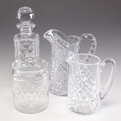 "Waterford ""Slane"" Crystal Pitcher, Brilliant Cut Glass Pitcher, and More"