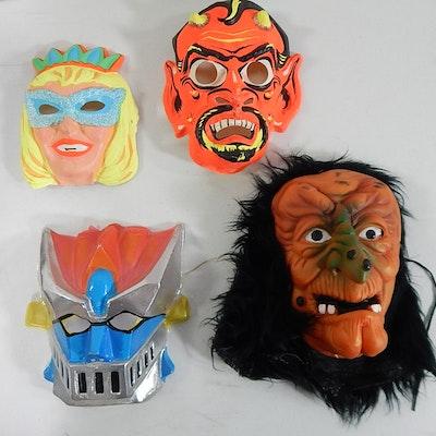 Four Vintage Halloween Masks