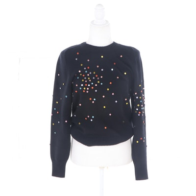 Chanel Embellished Cashmere Sweater, Vintage