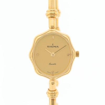 Swiss Sigma Quartz Wristwatch