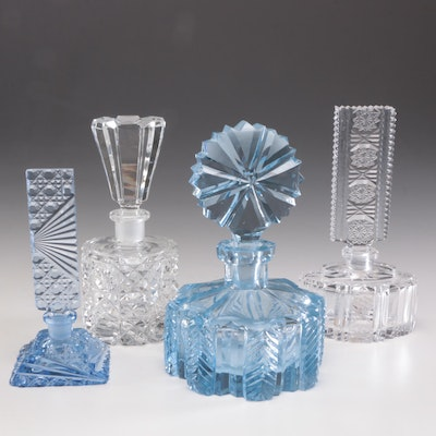 Crystal, Cut and Pressed Glass Perfume Bottles