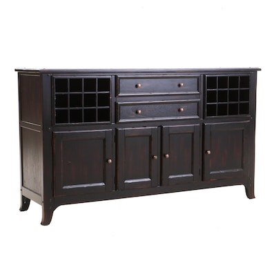 "Arhaus ""Fairmount"" Wood Wine Buffet"