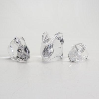Orrefors, Steuben and Val St. Lambert Crystal Animal Figurines