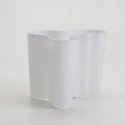 Alvar Aalto White Art Glass Vase